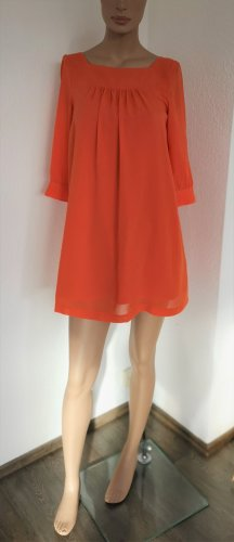 H&M Vestido babydoll naranja oscuro Poliéster