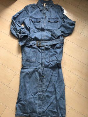 H&M Kleid Jean Jeanskleid Lang Gr 34