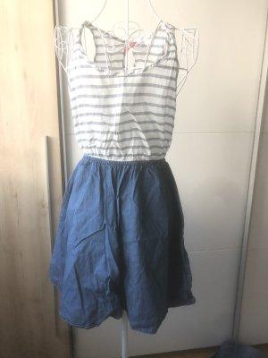 H&M Kleid jeansoptik gestreift 36 S blau