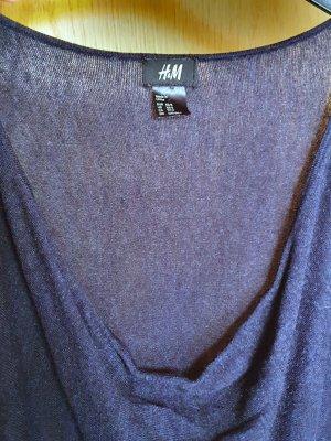 H&M / Kleid / Langarmkleid / Strickkleid / Oversize / Feinstrick / marineblau / dunkelblau