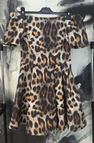 H&M Abito senza spalle nero-marrone chiaro