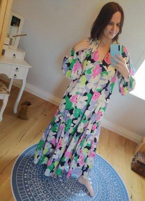 H&M Kleid Maxikleid bunt geblümt floral Blumen