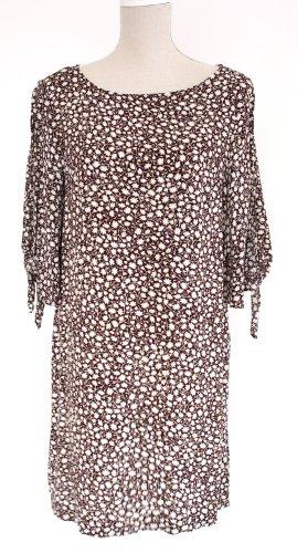 H&M Kleid Midikleid Viskose L 40 geblümt floral braun creme