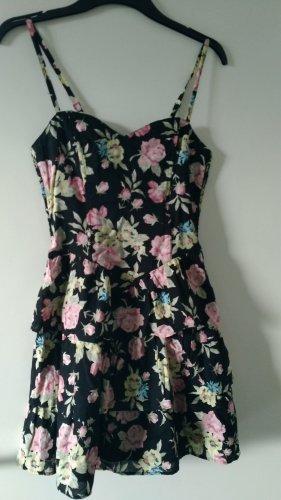 H&M Kleid mit Blumenprint und Volants