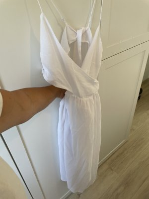 H&M Robe découpée blanc