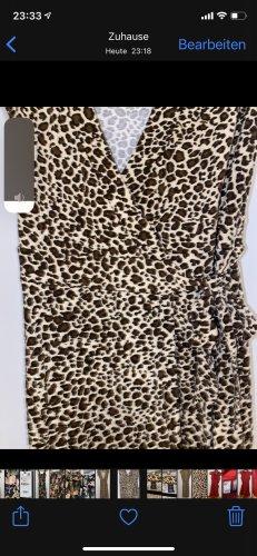 H&M Kleid mit Leo Print 34 wie neu klassische Impressionen