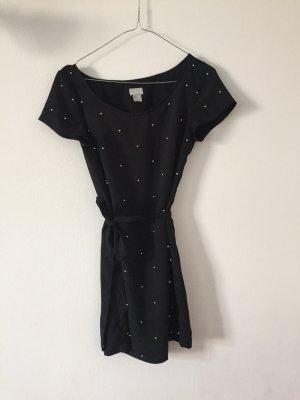 H&M Kleid mit Silberperlen und Bindegürtel Gr.32