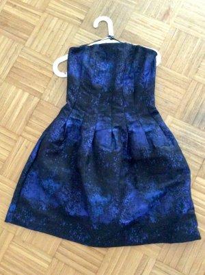 H&M Ballonjurk donkerblauw-zwart Polyester