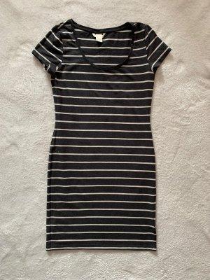 H&M Kleid S 36 grau gestreift Shirt