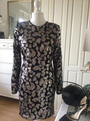 H&M Kleid Samt Pailletten Paisley gefüttert Gr. XL
