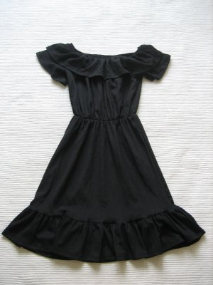 H&M kleid schulterfrei neu sommerkleid schwarz gr s 36