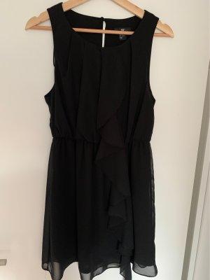H&M Basic Sukienka z falbanami czarny
