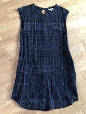 H&M Kleid schwarz weiß Muster 36
