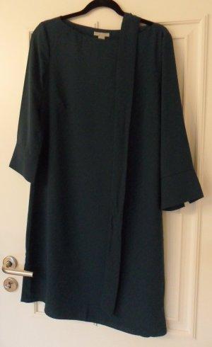 H&M Kleid/Stiefelkleid, mit Gürtel, dunkelgrün/tannengrün, Gr.42, NEU