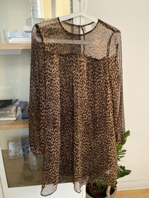 H&M Kleid Tunika Shirt Animal Print Leo 36 S