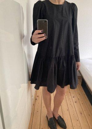 H&M Sukienka z falbanami czarny Bawełna