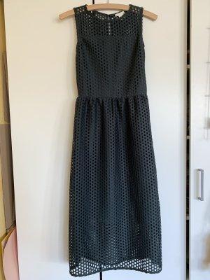 H&M Robe à corsage vert foncé