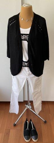 H&M Basic Veste tricotée en grosses mailles noir acrylique