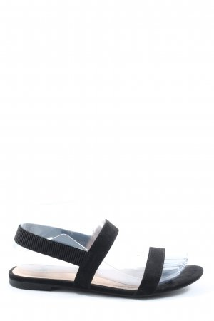 H&M Comfort Sandals black casual look