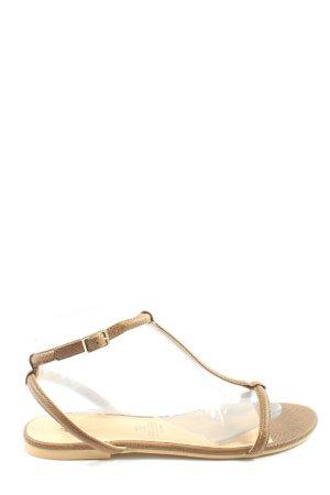H&M Sandalias cómodas marrón look casual