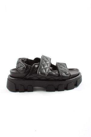 H&M Comfortabele sandalen zwart quilten patroon casual uitstraling