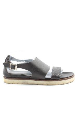 H&M Sandalias cómodas negro look casual