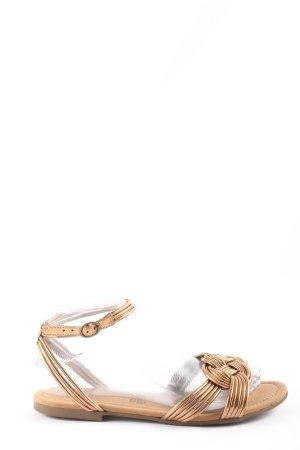 H&M Komfort-Sandalen goldfarben Casual-Look