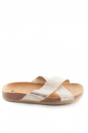 H&M Comfort Sandals gold-colored allover print casual look