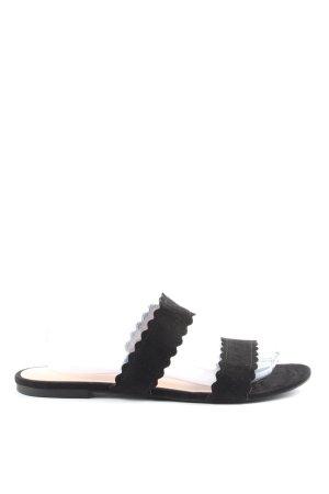 H&M Sandały plażowe czarny W stylu casual
