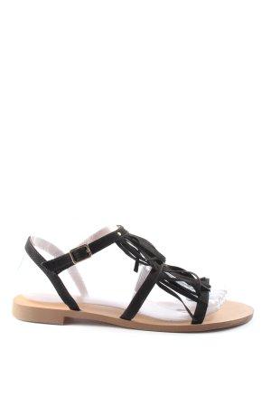 H&M Komfort-Sandalen schwarz-nude Casual-Look