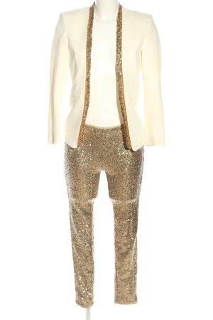 H&M Tailleur doré-blanc cassé élégant
