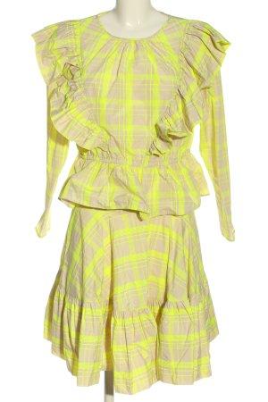 H&M Kostium w kolorze białej wełny-bladożółty Na całej powierzchni