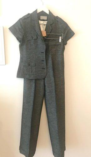 H&M Tailleur pantalone grigio Lino