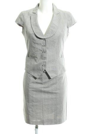 H&M Tailleur grigio chiaro motivo a quadri stile professionale