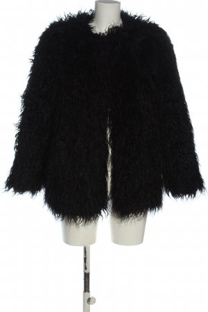 H&M Veste en fausse fourrure noir style décontracté