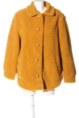 H&M Kurtka ze sztucznym futrem jasny pomarańczowy W stylu casual