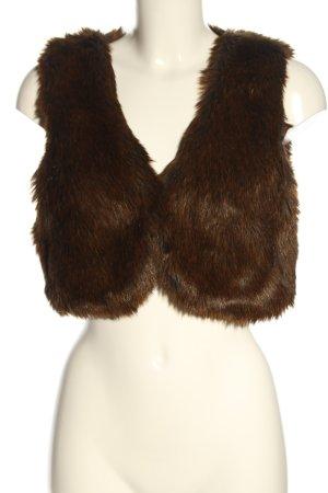 H&M Kurtka ze sztucznym futrem brązowy W stylu casual