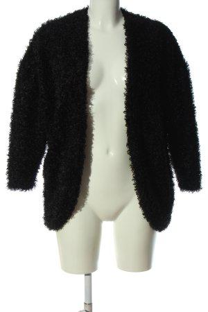 H&M Kurtka ze sztucznym futrem czarny Elegancki