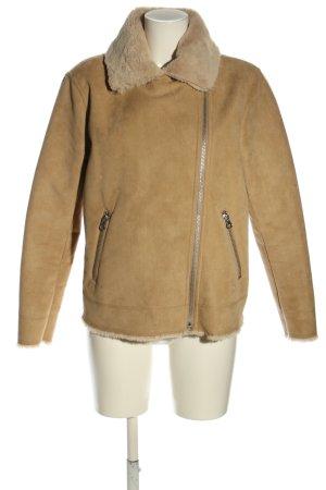 H&M Chaqueta de piel sintética marrón look casual