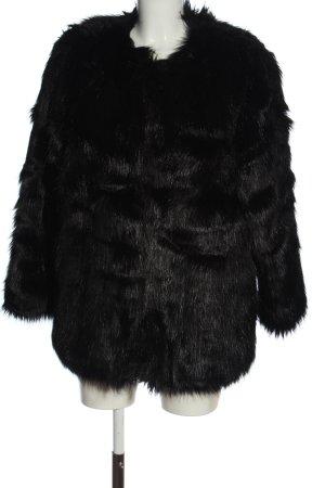 H&M Chaqueta de piel sintética negro elegante