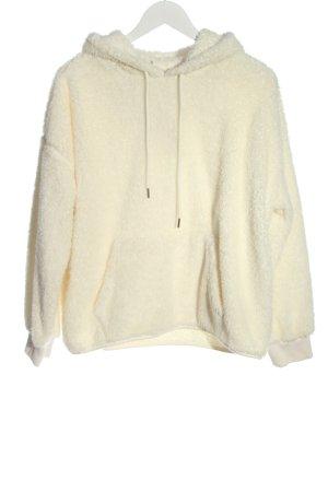 H&M Pull à capuche crème style décontracté