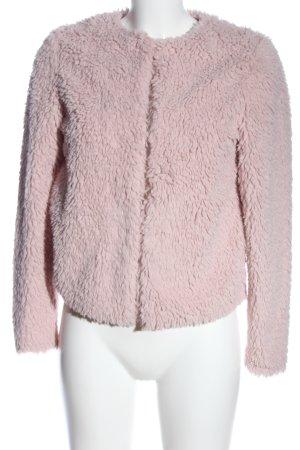 H&M Kurtka ze sztucznym futrem różowy W stylu casual