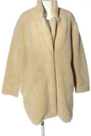 H&M Manteau en fausse fourrure crème style décontracté