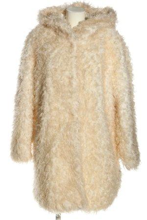 H&M Płaszcz ze sztucznym futrem kremowy W stylu casual
