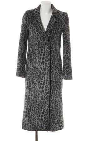 H&M Kunstfellmantel grau-schwarz Leomuster extravaganter Stil