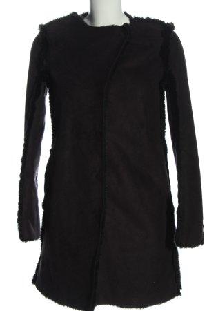 H&M Cappotto in eco pelliccia nero stile casual