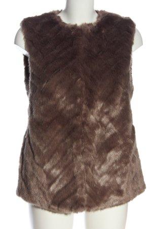 H&M Kamizelka ze sztucznym futrem brązowy W stylu casual