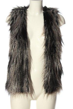 H&M Kamizelka ze sztucznym futrem czarny-brązowy Gradient W stylu casual