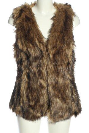 H&M Fake Fur Vest brown casual look