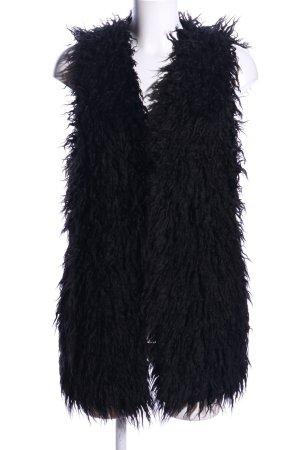 H&M Kamizelka ze sztucznym futrem czarny W stylu casual